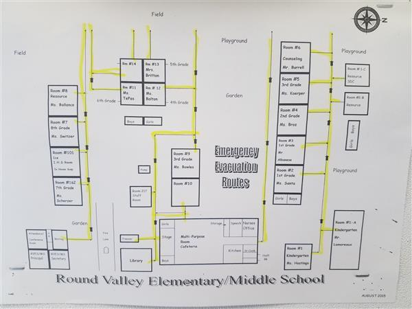 Round Valley Elementary/Middle Evacuation Map